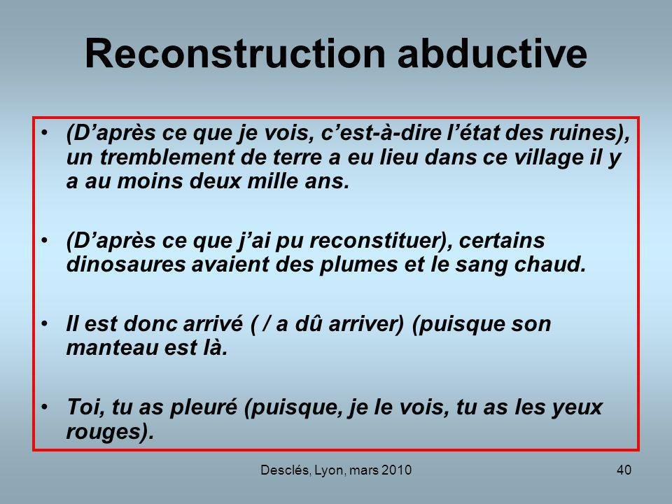 Reconstruction abductive