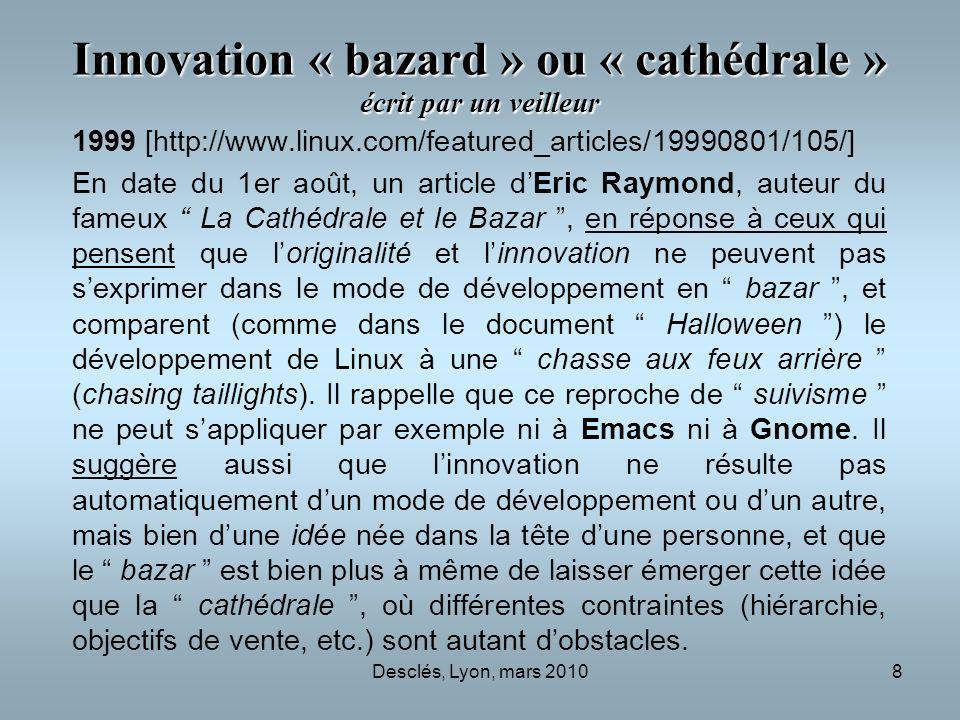 Innovation « bazard » ou « cathédrale » écrit par un veilleur