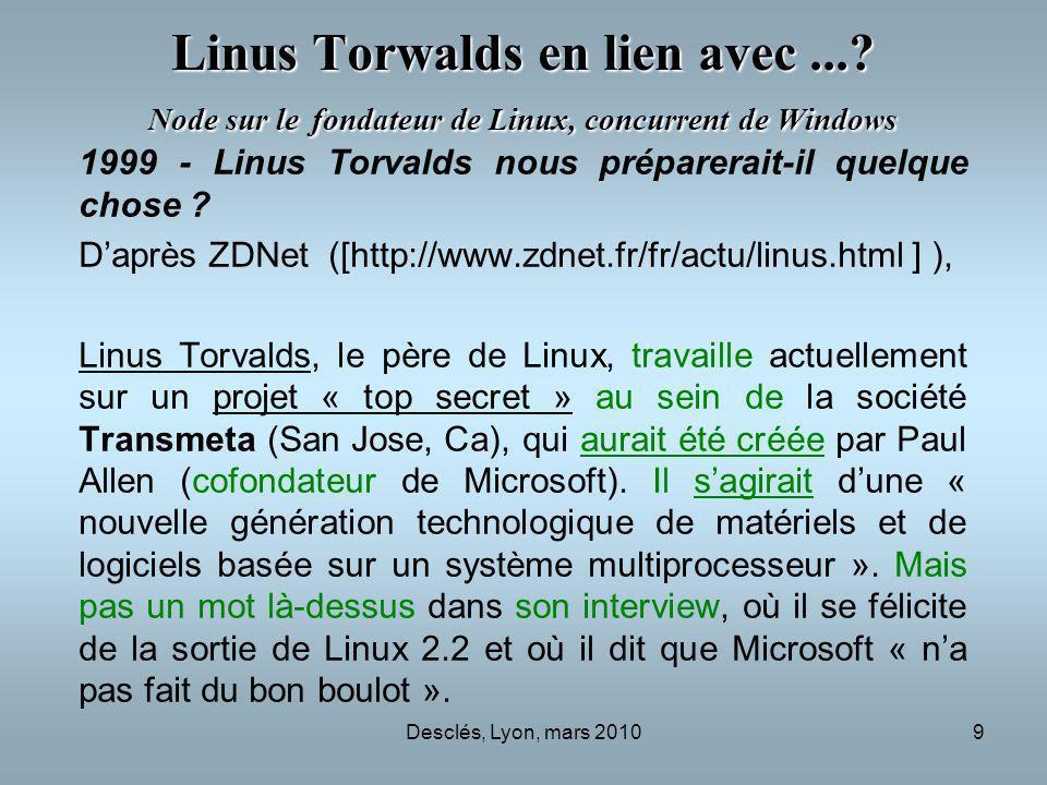 Linus Torwalds en lien avec
