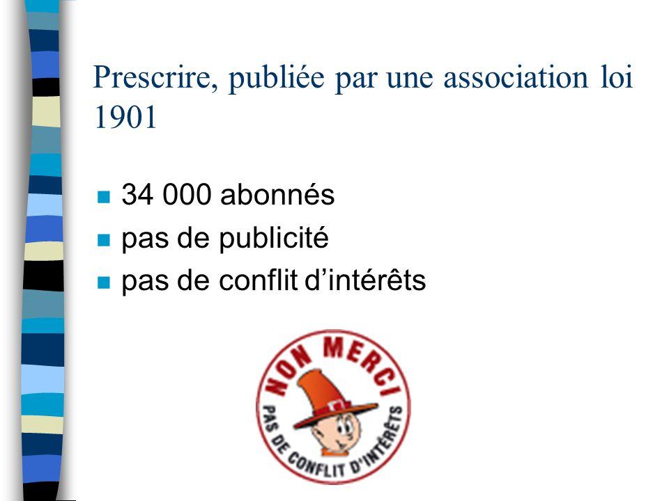 Prescrire, publiée par une association loi 1901