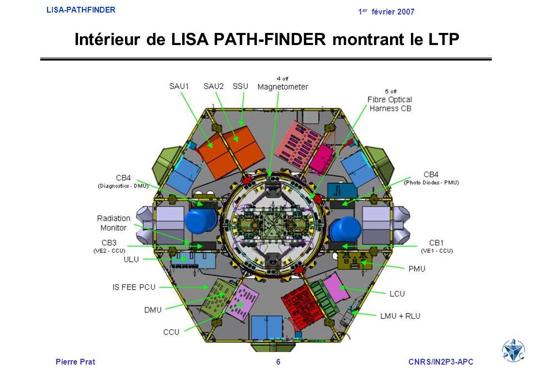 Intérieur de LISA PATH-FINDER montrant le LTP