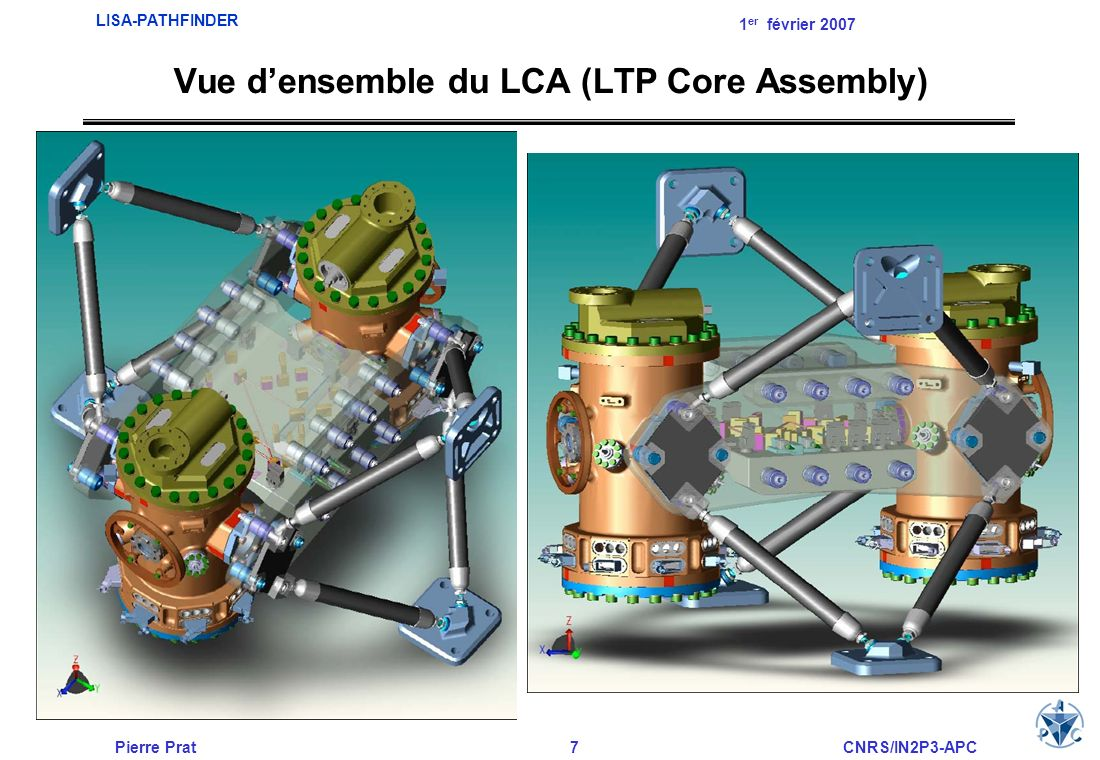 Vue d'ensemble du LCA (LTP Core Assembly)