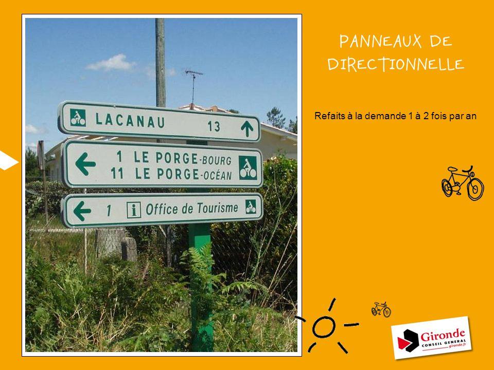 PANNEAUX DE DIRECTIONNELLE