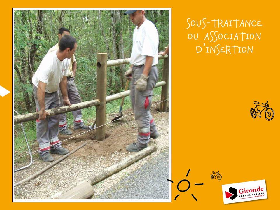 SOUS-TRAITANCE OU ASSOCIATION D'INSERTION