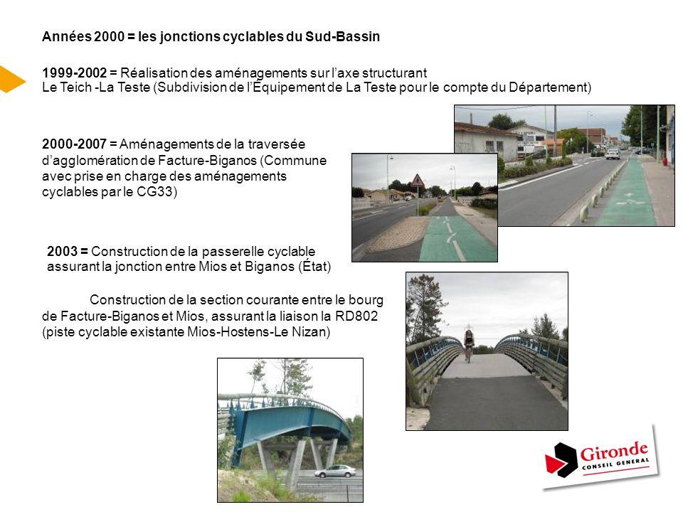 Années 2000 = les jonctions cyclables du Sud-Bassin