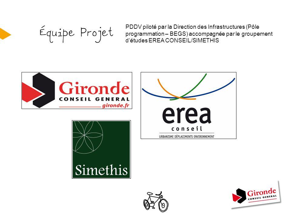 PDDV piloté par la Direction des Infrastructures (Pôle programmation – BEGS) accompagnée par le groupement d'études EREA CONSEIL/SIMETHIS