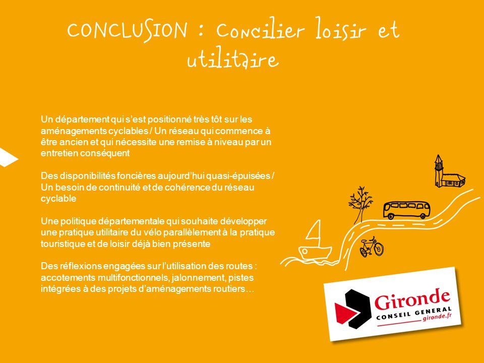 CONCLUSION : Concilier loisir et utilitaire