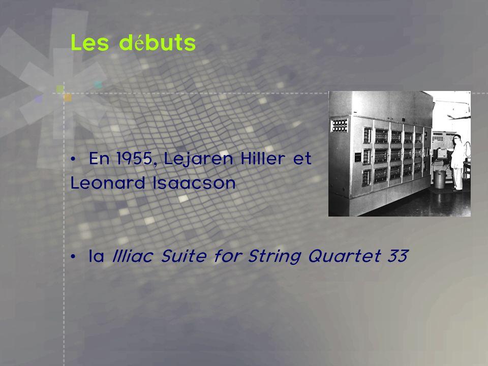 Les débuts En 1955, Lejaren Hiller et Leonard Isaacson