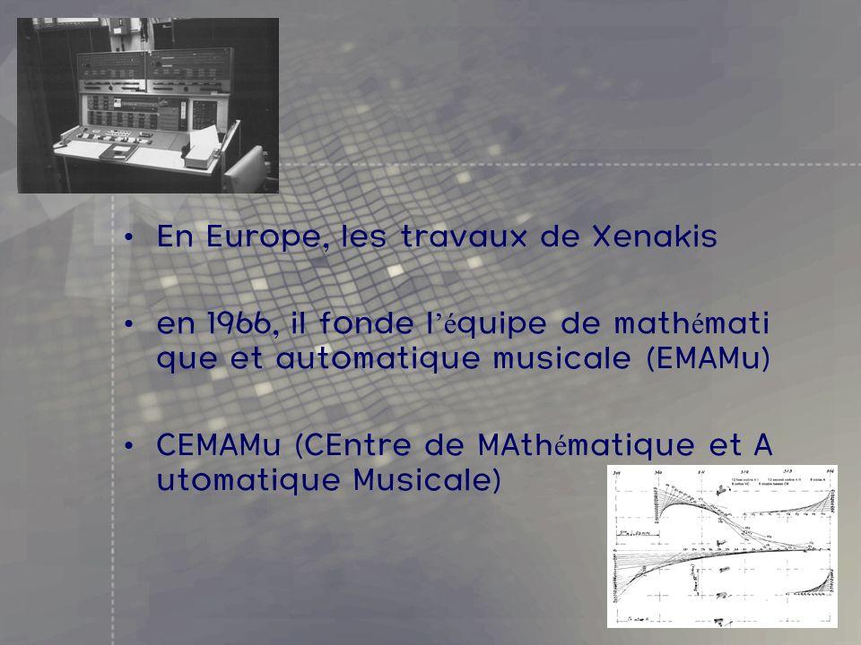 En Europe, les travaux de Xenakis