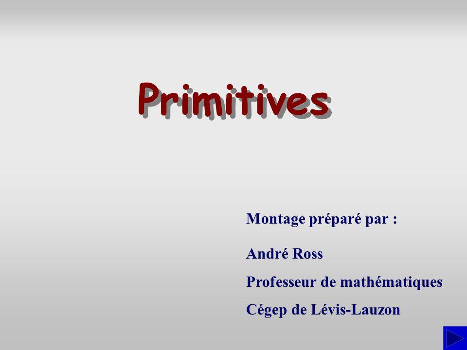 Primitives Montage préparé par : André Ross