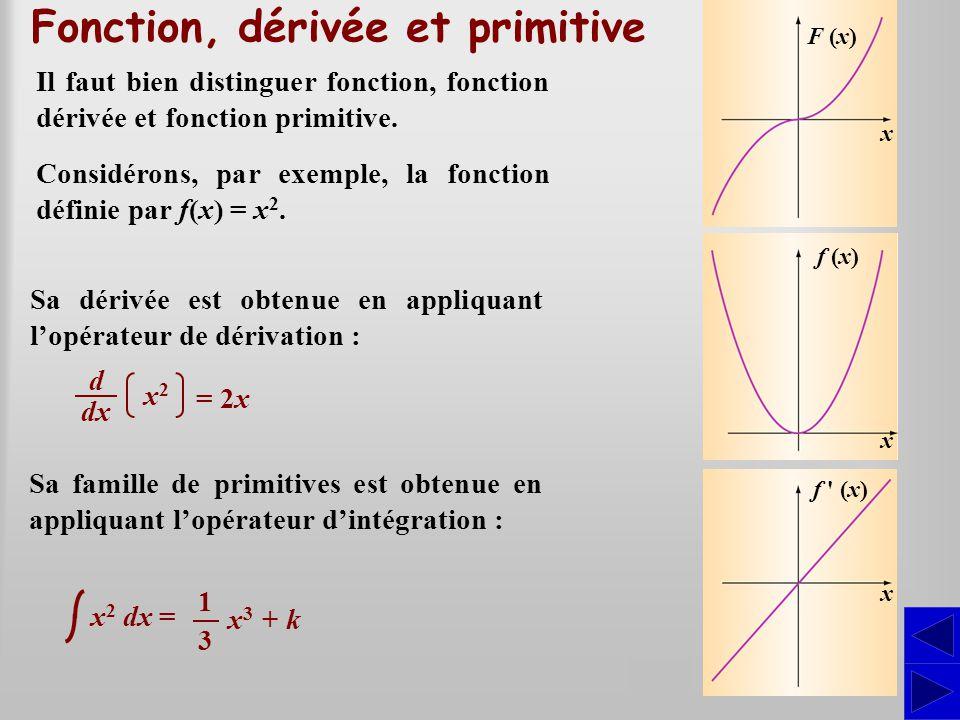 Fonction, dérivée et primitive
