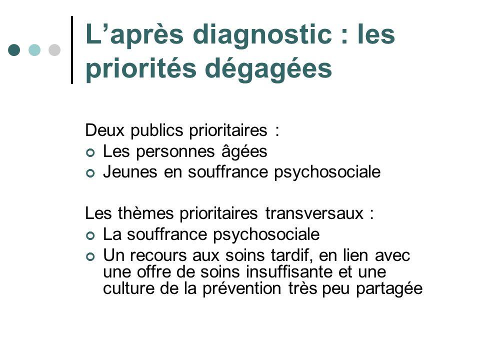 L'après diagnostic : les priorités dégagées