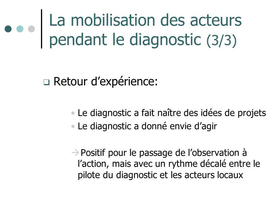 La mobilisation des acteurs pendant le diagnostic (3/3)