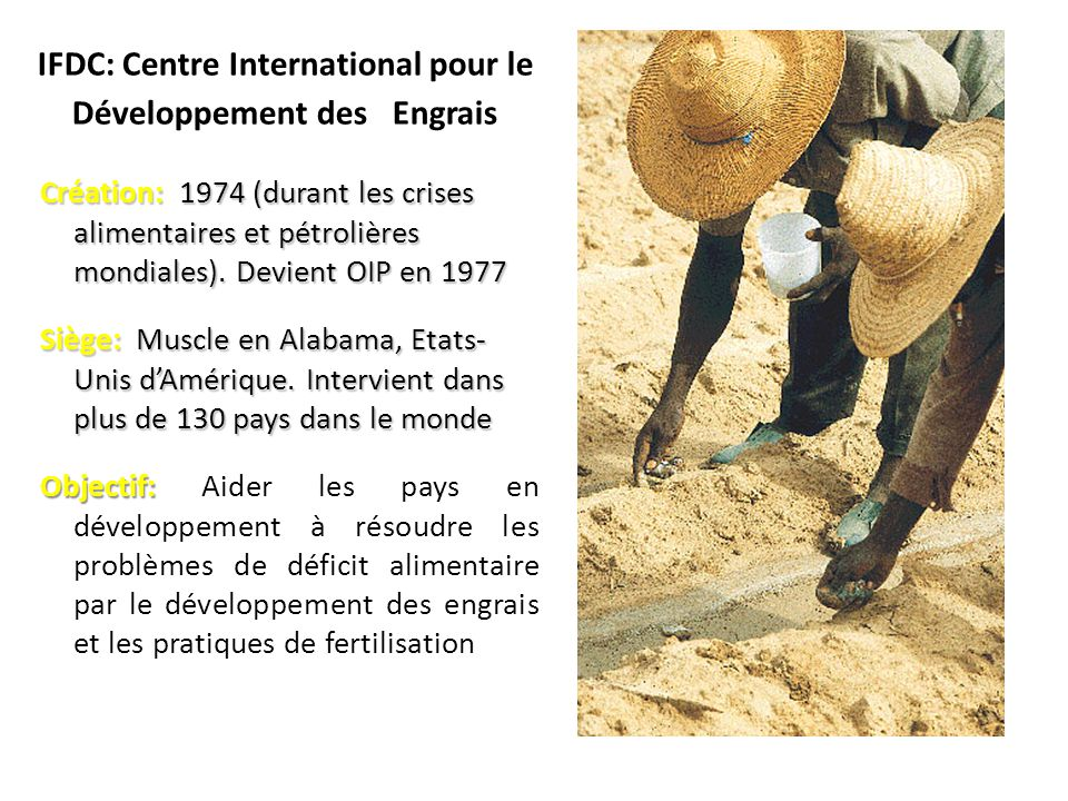 IFDC: Centre International pour le Développement des Engrais