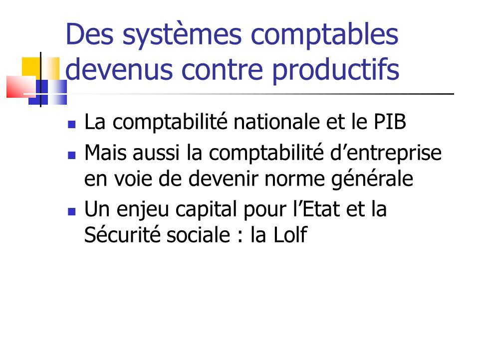 Des systèmes comptables devenus contre productifs