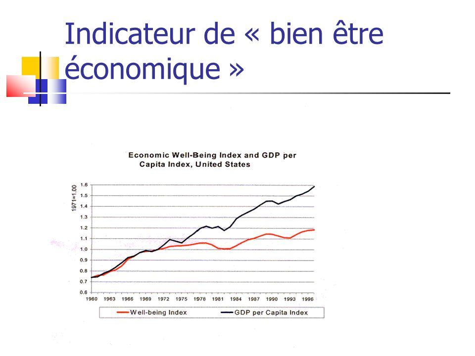 Indicateur de « bien être économique »
