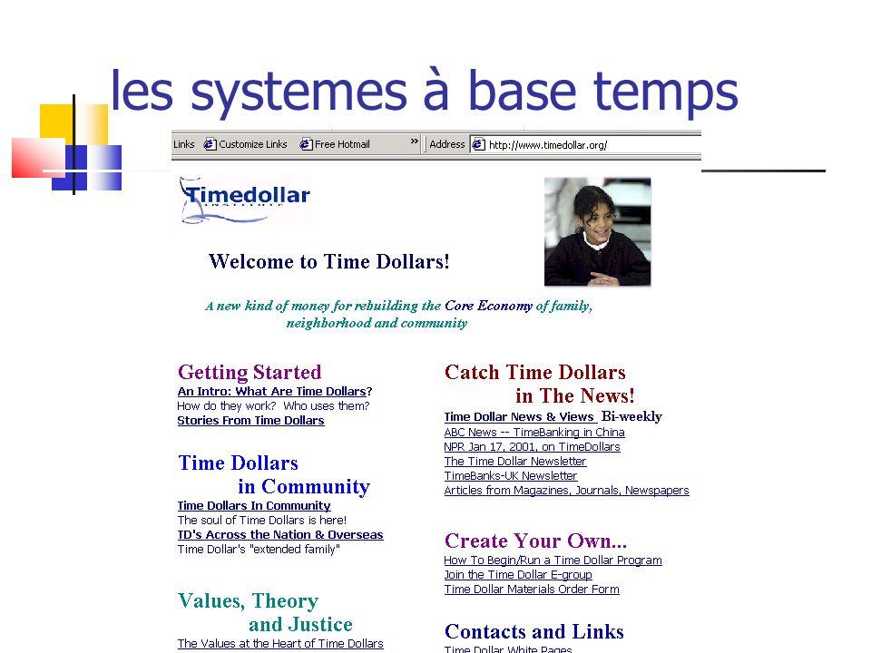les systemes à base temps