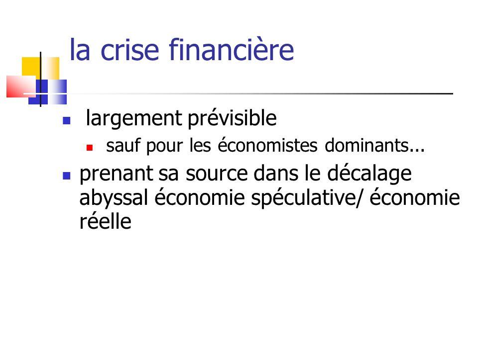 la crise financière largement prévisible