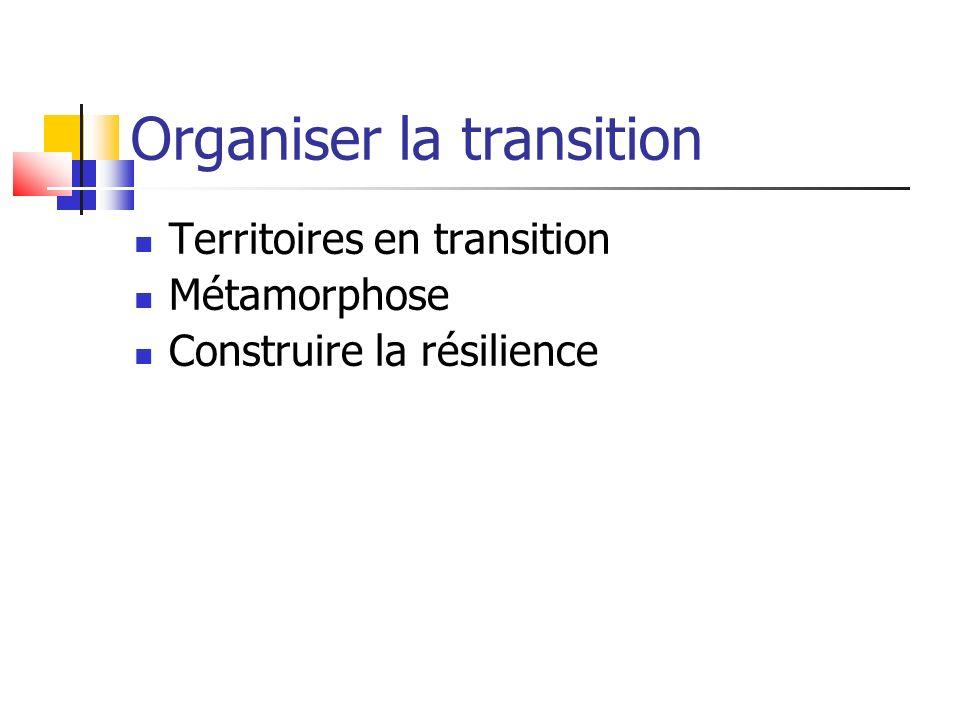 Organiser la transition