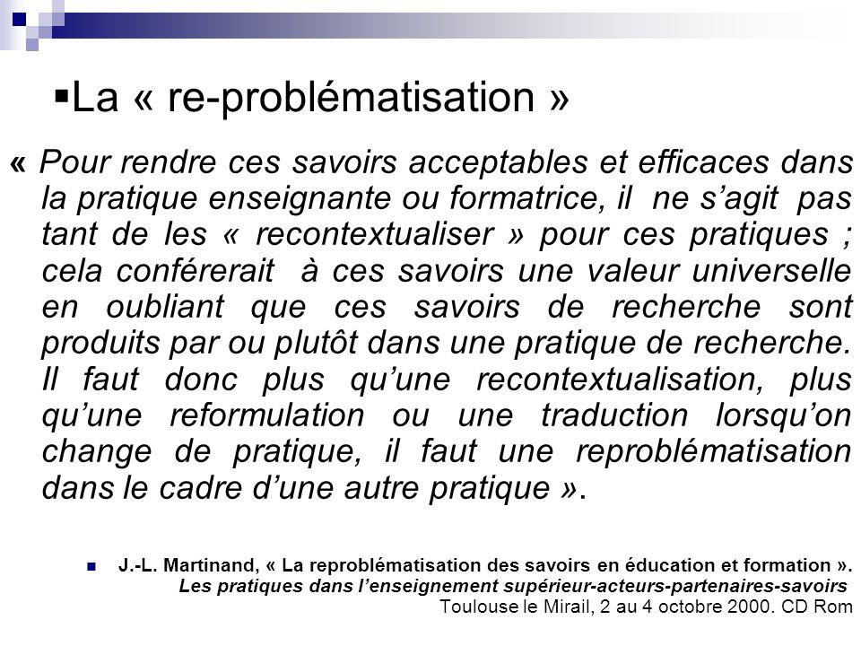 La « re-problématisation »