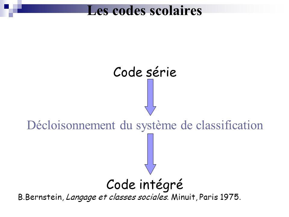 Décloisonnement du système de classification