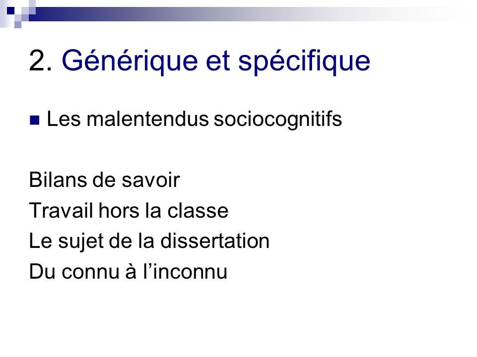 2. Générique et spécifique