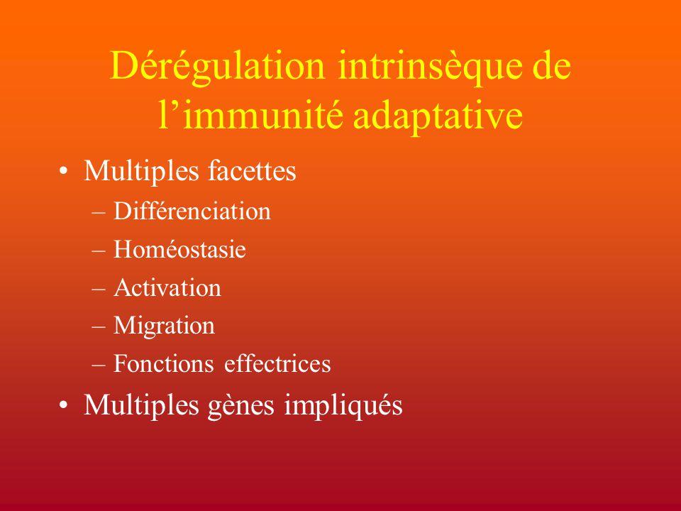 Dérégulation intrinsèque de l'immunité adaptative