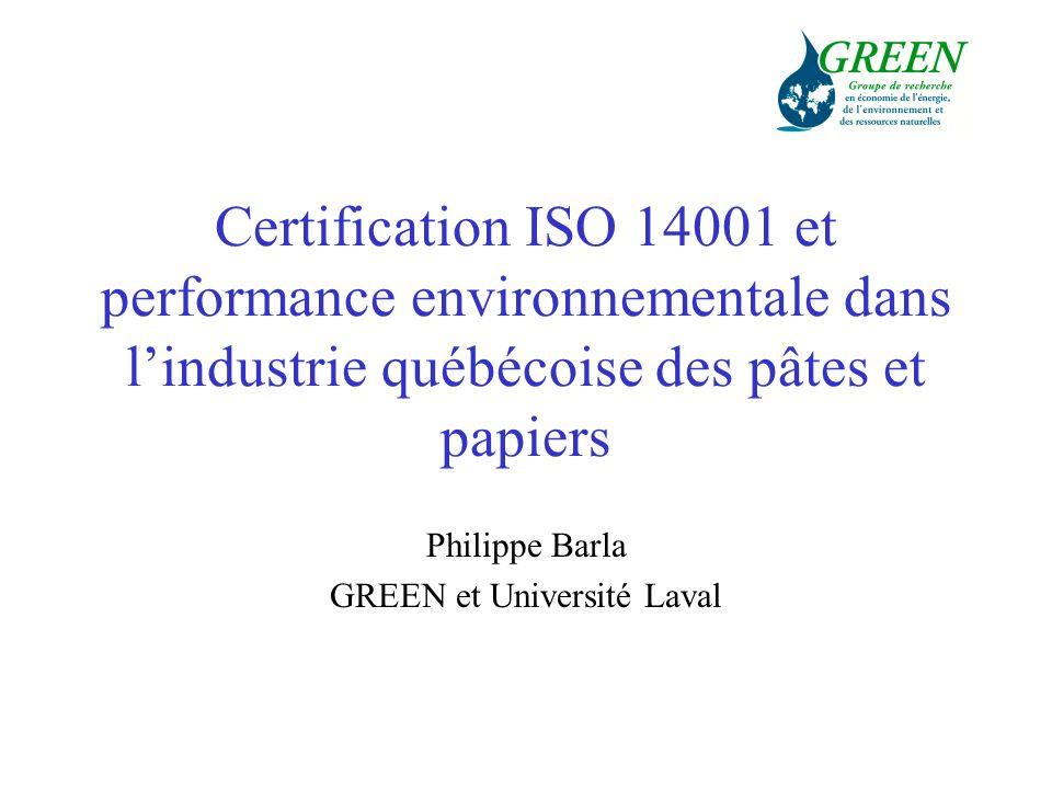 Philippe Barla GREEN et Université Laval