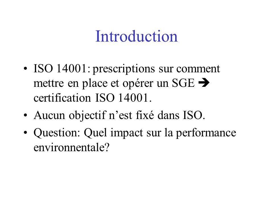 Introduction ISO 14001: prescriptions sur comment mettre en place et opérer un SGE  certification ISO 14001.