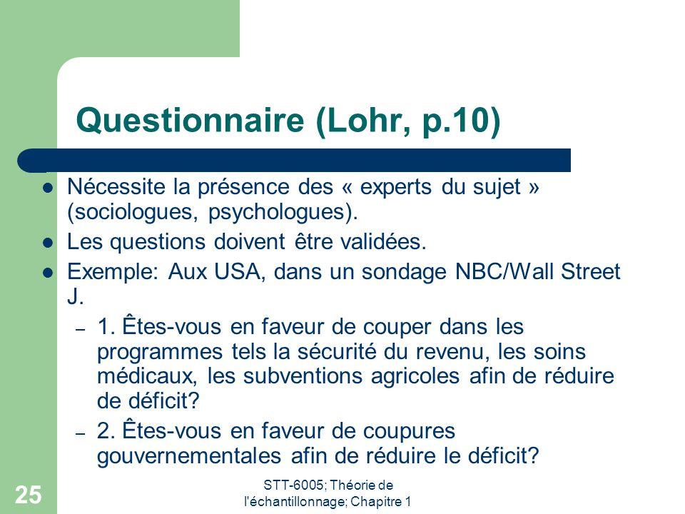Questionnaire (Lohr, p.10)