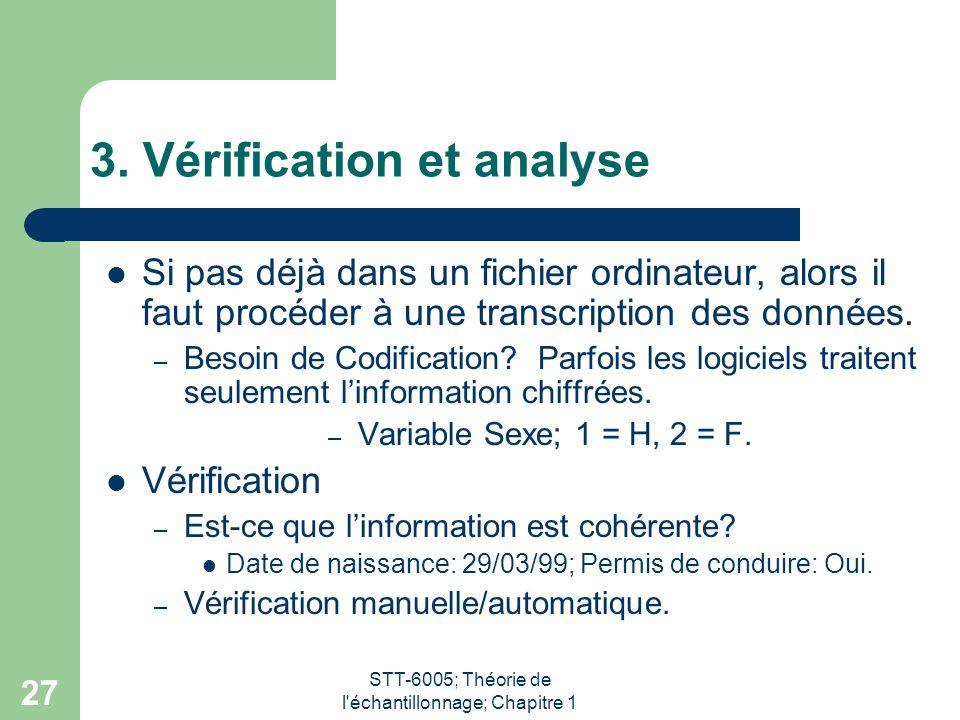 3. Vérification et analyse