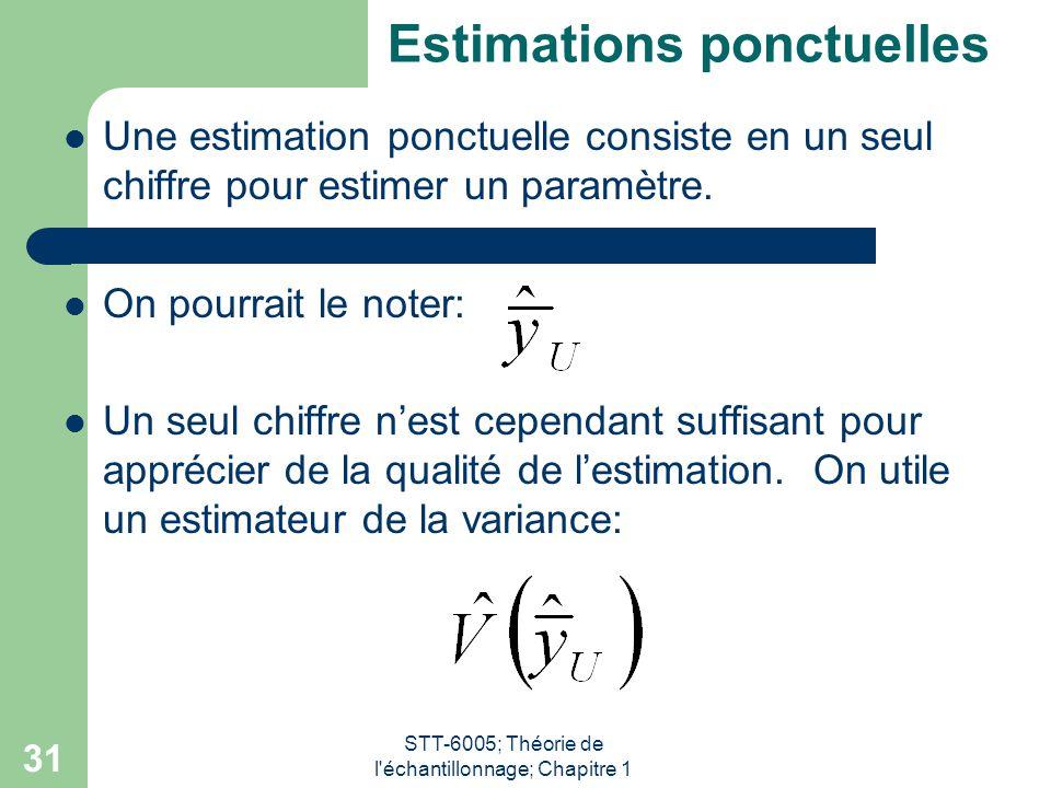 Estimations ponctuelles