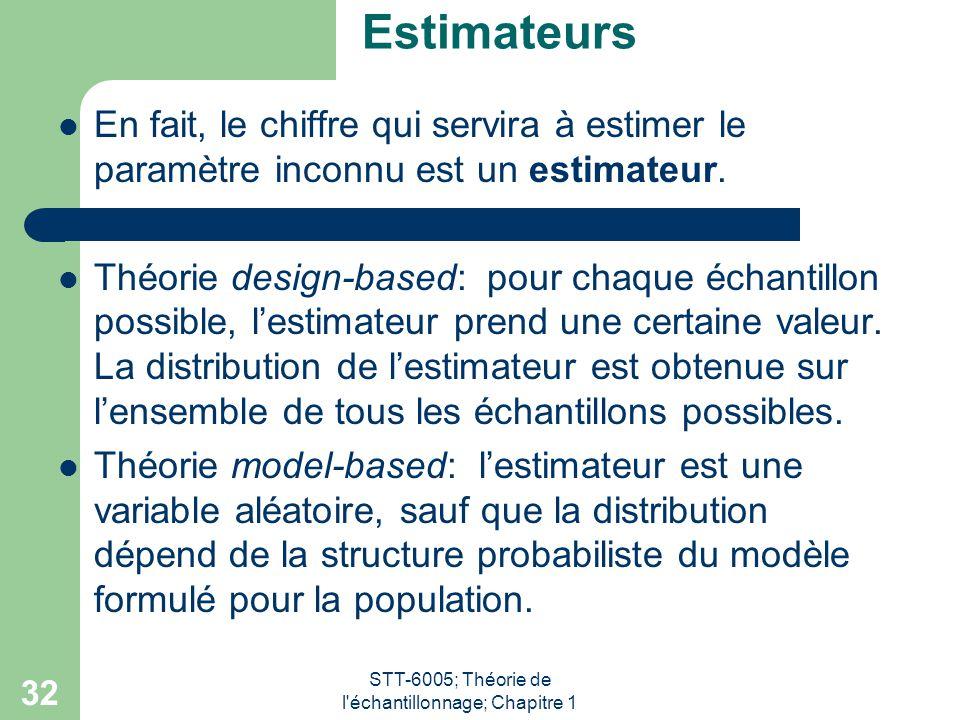 STT-6005; Théorie de l échantillonnage; Chapitre 1