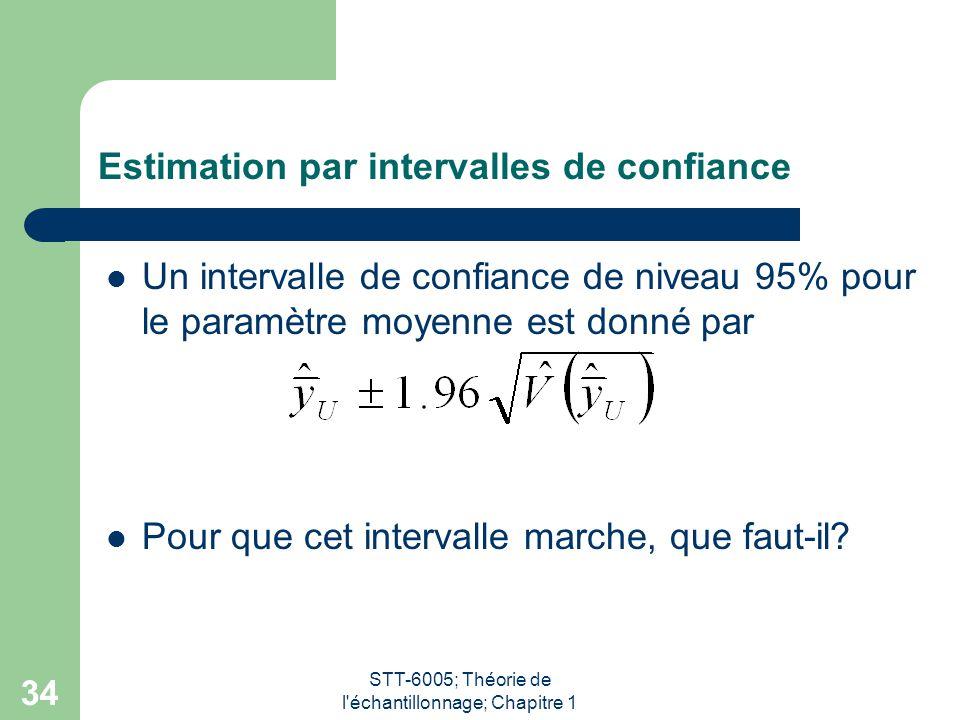 Estimation par intervalles de confiance