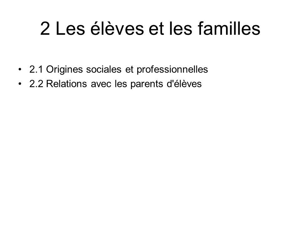2 Les élèves et les familles