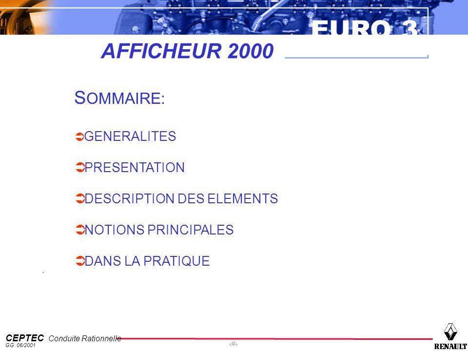AFFICHEUR 2000 SOMMAIRE: PRESENTATION DESCRIPTION DES ELEMENTS