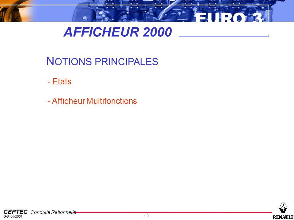 AFFICHEUR 2000 NOTIONS PRINCIPALES - Etats - Afficheur Multifonctions