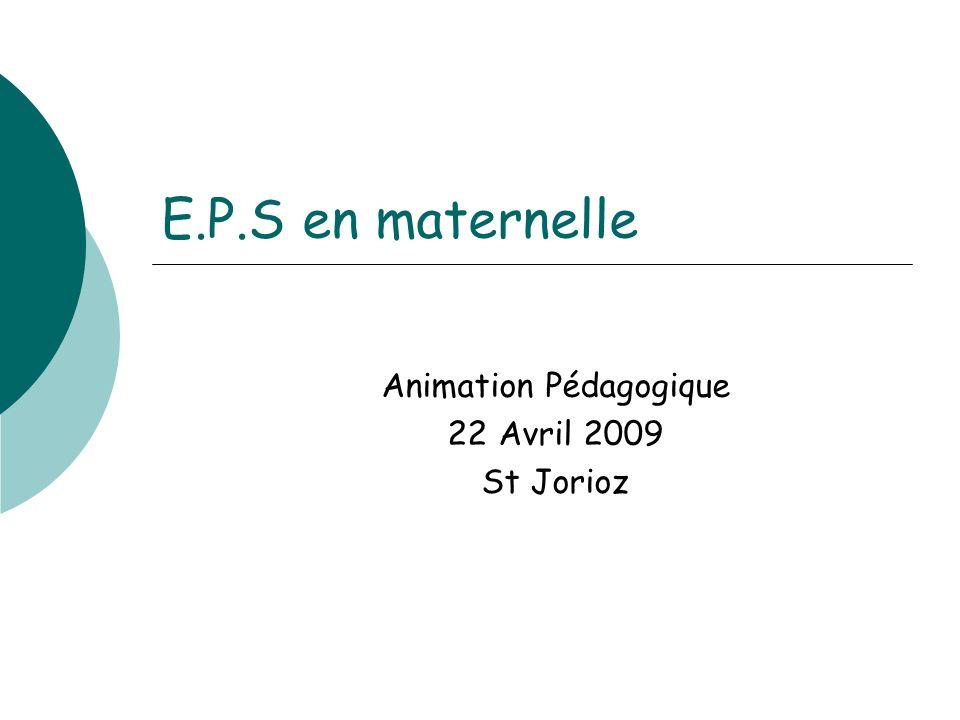 Animation Pédagogique 22 Avril 2009 St Jorioz