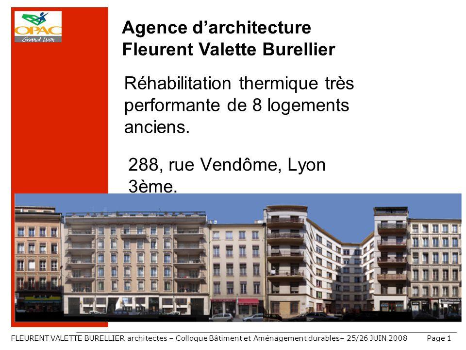 Agence d'architecture Fleurent Valette Burellier