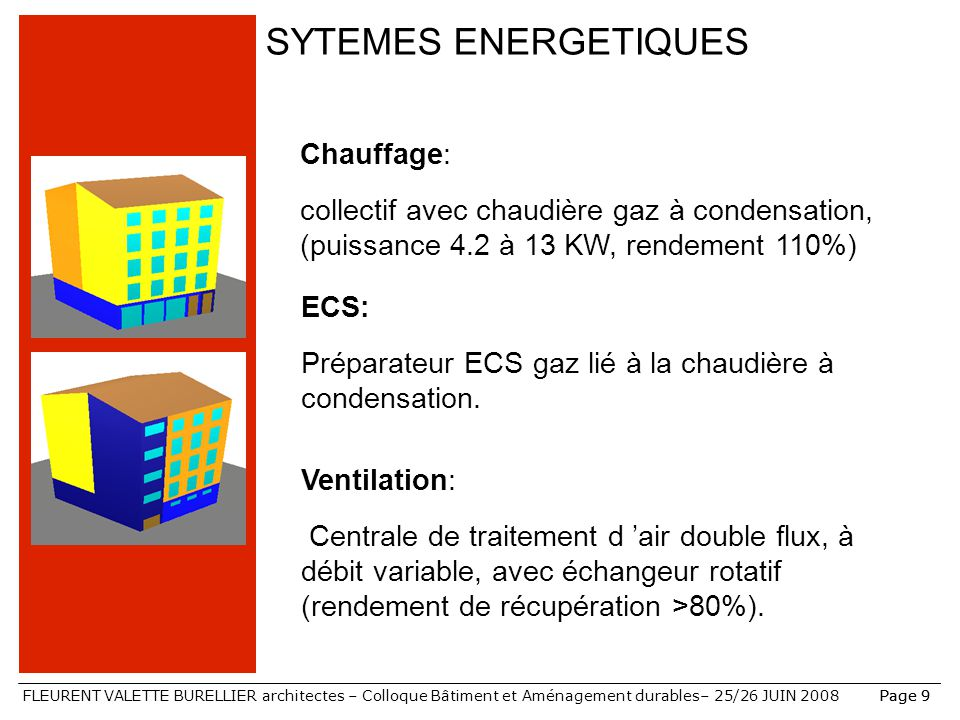 SYTEMES ENERGETIQUES Chauffage: