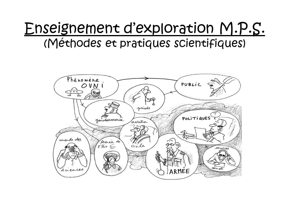 Enseignement d'exploration M. P. S