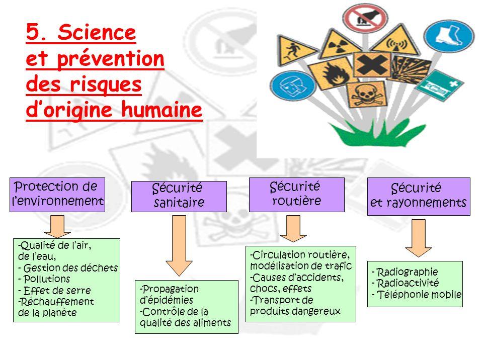 5. Science et prévention des risques d'origine humaine