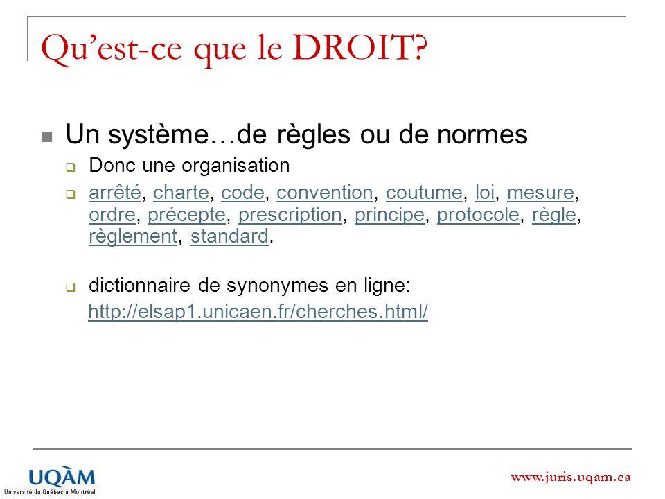 Qu'est-ce que le DROIT Un système…de règles ou de normes