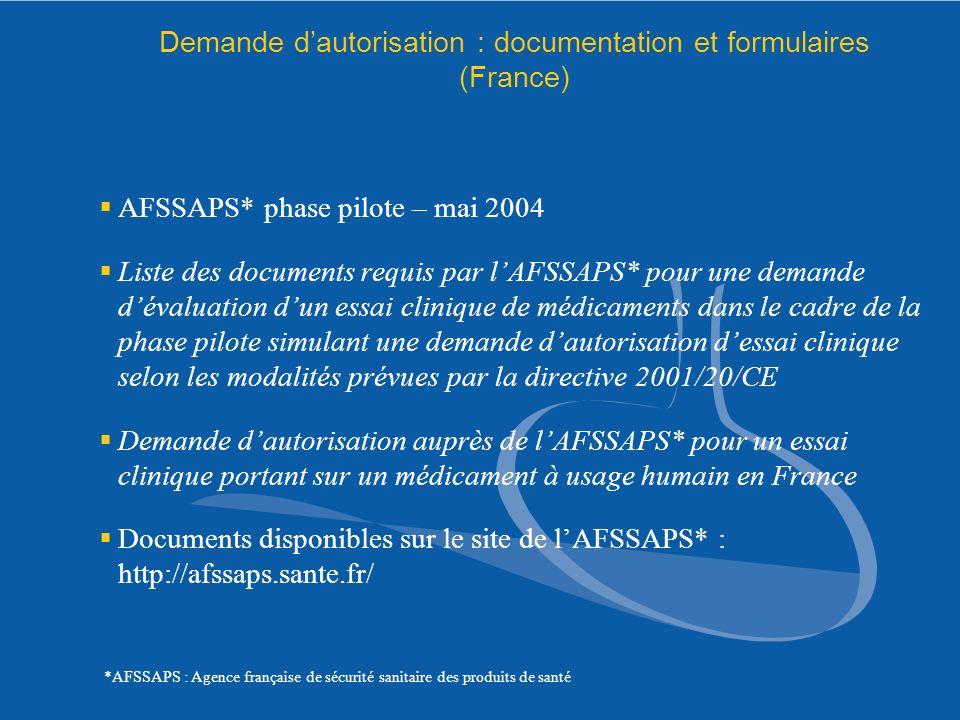 Demande d'autorisation : documentation et formulaires (France)