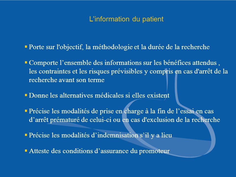 L information du patient