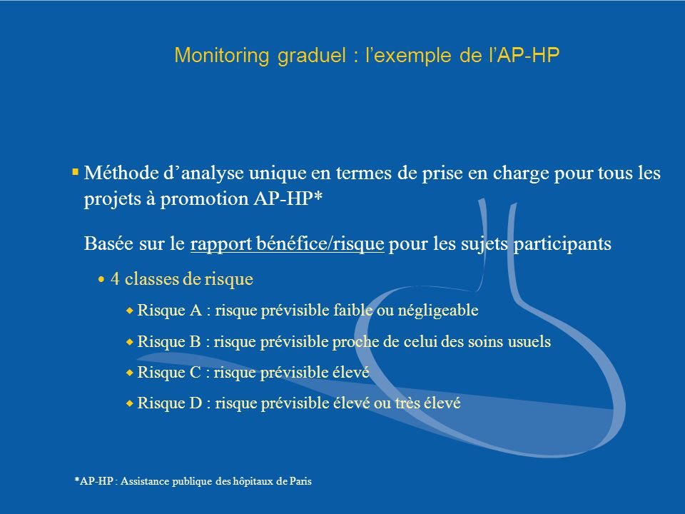 Monitoring graduel : l'exemple de l'AP-HP