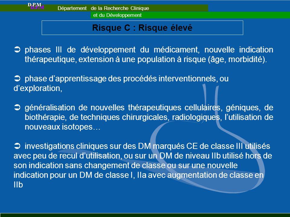 Département de la Recherche Clinique