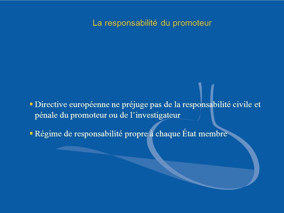 La responsabilité du promoteur