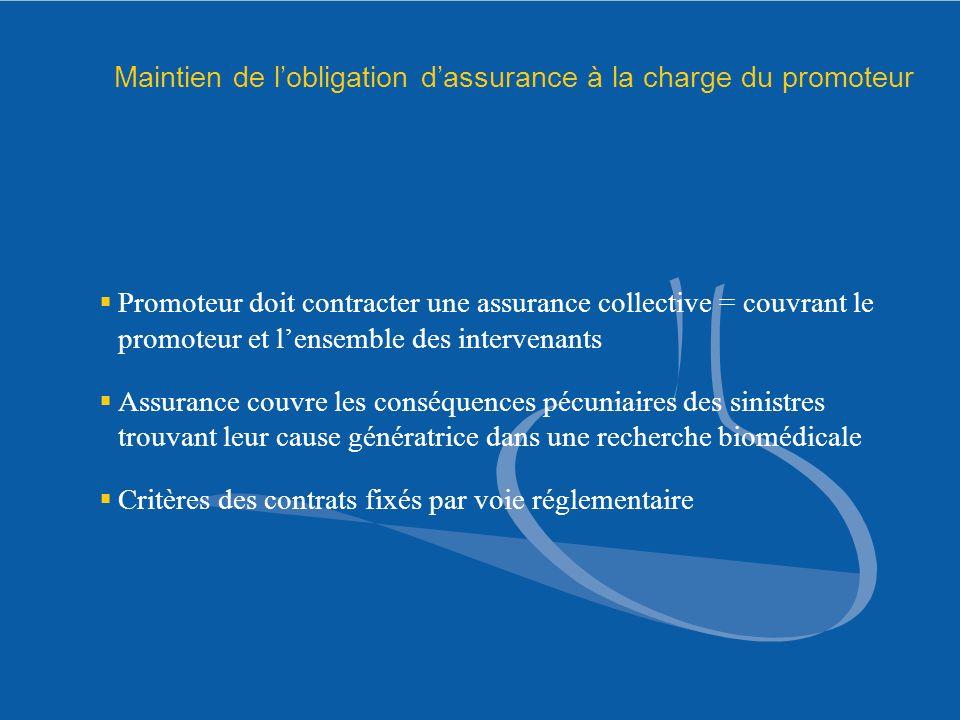 Maintien de l'obligation d'assurance à la charge du promoteur