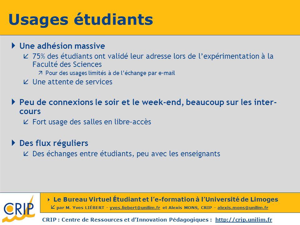 Usages étudiants Une adhésion massive